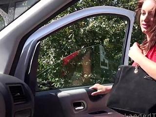Hungarian guy fucks prex unvisited teen in his van