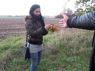 Deep turtle-dove for cheated european brunette schoolgirl