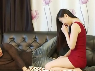 Korea girl massage for Boss(little Sex) and So complying