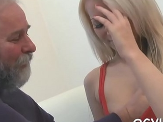 Old nasty supplicant fucks young hole