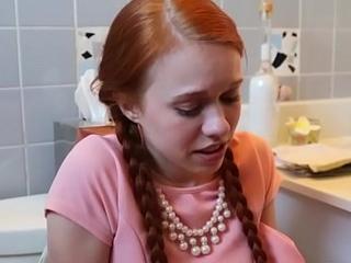 Little redhead facial