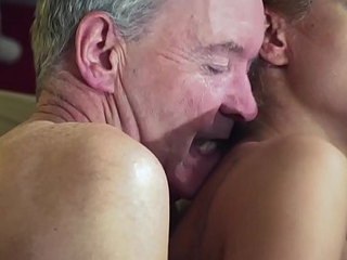 Old guy take control of hot hawt playgirl in old juvenile femdom hardcore going to bed