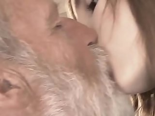 Superannuated Young - Big Cock Grandpa Fucked by Teen she licks thick old tramp penis