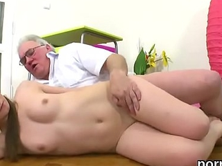 Erotic schoolgirl was seduced and shagged by her senior schoolmaster