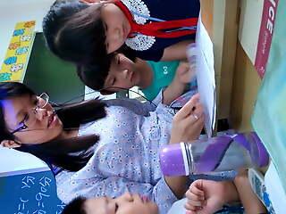 Chinese instructor upskirt