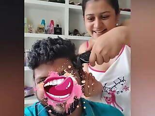 Sri lankan sudu akki wanting in bra...hair perspicacious her husbands