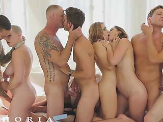 BiPhoria - Bisexual Couple Swan around Orchestra Into Wild Orgy