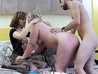 Lesbian Stepsister Takes Nasty Sex Threesome Gay & BBW Baby
