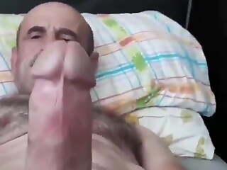 Turkish older man jerking off - short clip