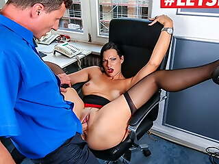 LETSDOEIT Austrian MILF Sina Velvet Goes Wild At Be passed on Office