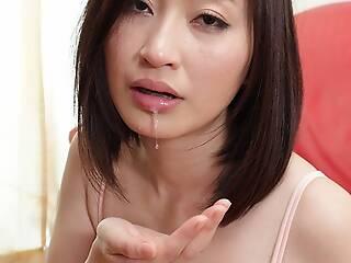Japanese housewife Ami Kikukawa sucks dick, to the greatest