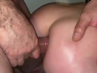 French hot spliced with great ass taking a big unearth in her ass.