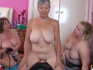 OldNannY Team a few British Matures added to Intercourse Machine