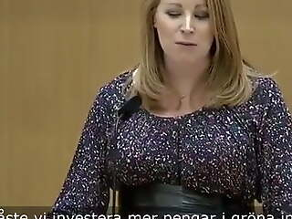 Swedish Politician Annie Loof With Huge Tits After Pregnancy