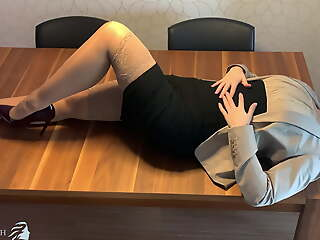 varied assistant face fucked, deep throat - business-bitch