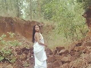 Sree girl no bra in jungle