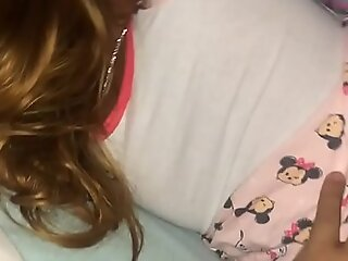 Bedtime teen in pajamas goodnight sex