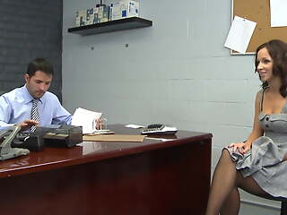 Black Stockings Secretary JADA STEVENS Hard Sex in Office