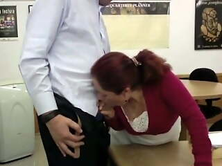 Secretary Rosi shacking up in my office