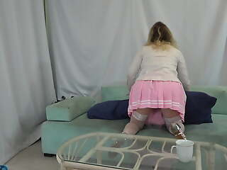 Stepdaughter seduces stepdad while mom is broadly be advantageous to the house