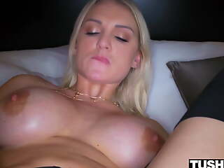 TUSHYRAW Hot Blonde loves getting say no to asshole stretched