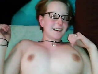 Amateur doll cums while BF fucks her POV. Nice tits!