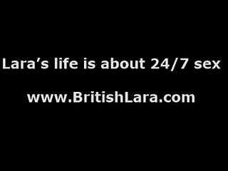 Threesome for lucky British MILF Lara Latex