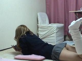 Japanese Schoolgirl Doggy Publicize Upskirt