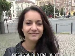 Cute Unprofessional Euro Battle-axe Fucks In Open Street For Euros 20