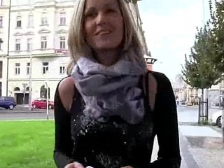 Amateur Czech Teen Slut Fucks For Euro In Public 09